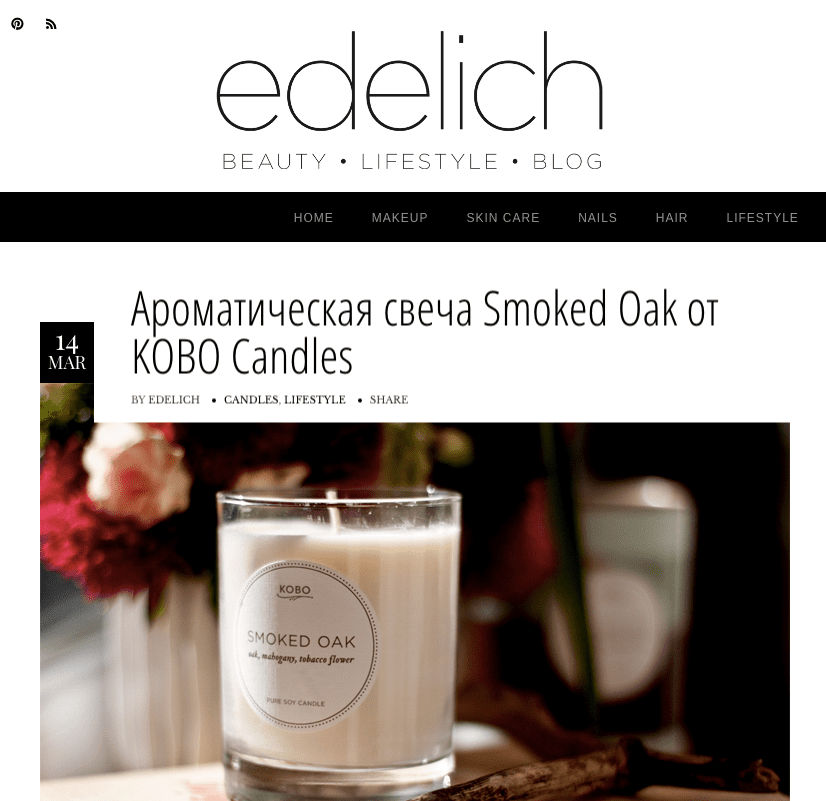 EDELICH KOBO Candles