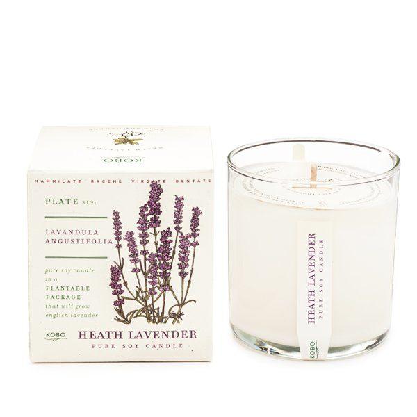 Ароматическая свеча Heath Lavender от KOBO Candles в интернет-магазине Candlesbox