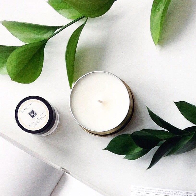 Натуральные воски в ароматических свечах