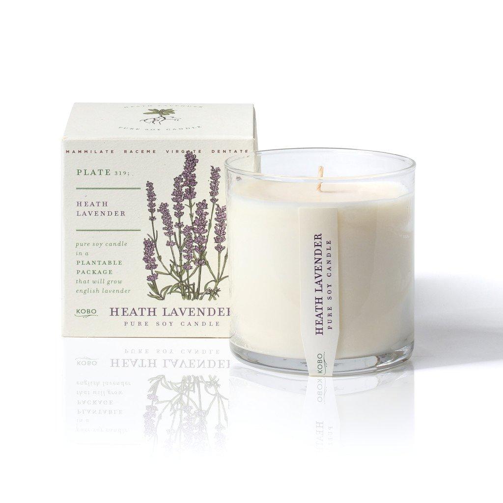 ароматическая свеча Heath Lavander от KOBO Candles в интернет магазине Candlesbox