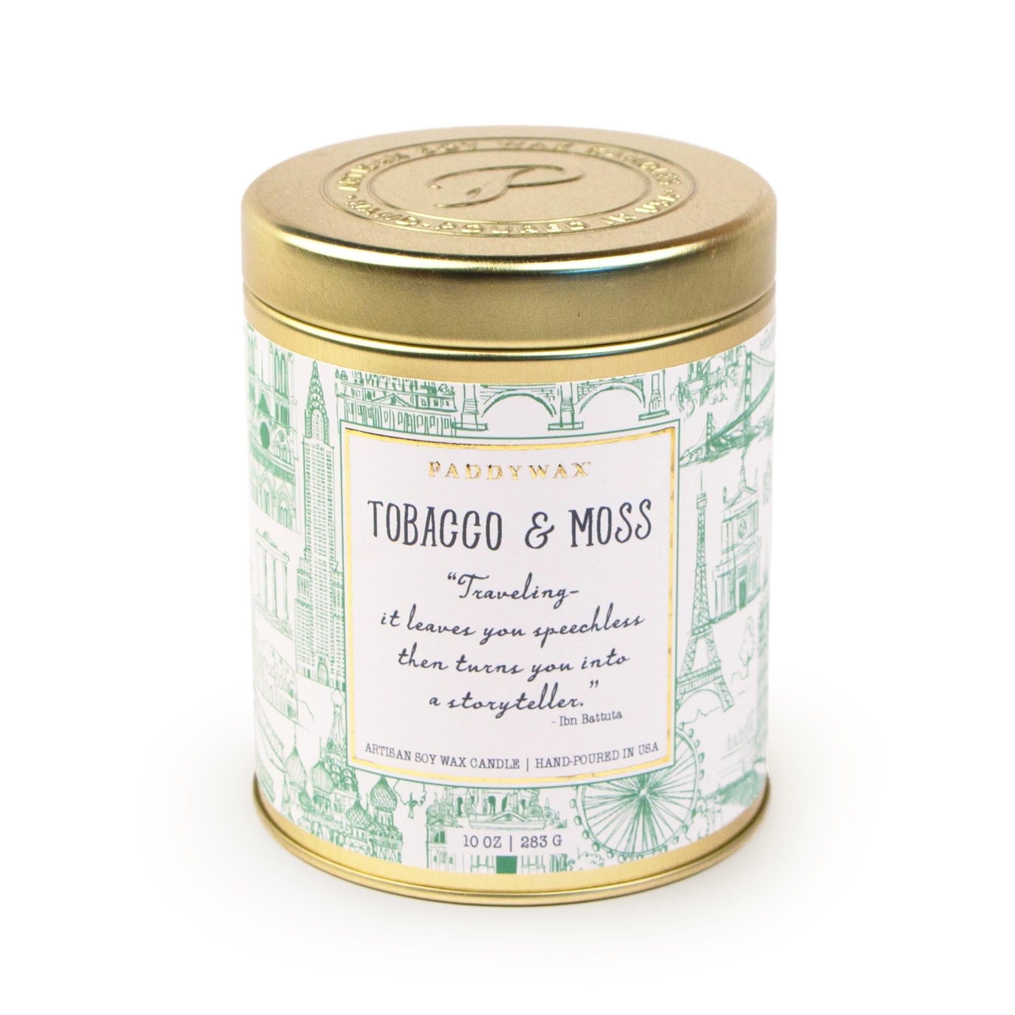 Ароматическая свеча TABACCO & MOSS от PaddyWax в интернет-магазине Candlesbox