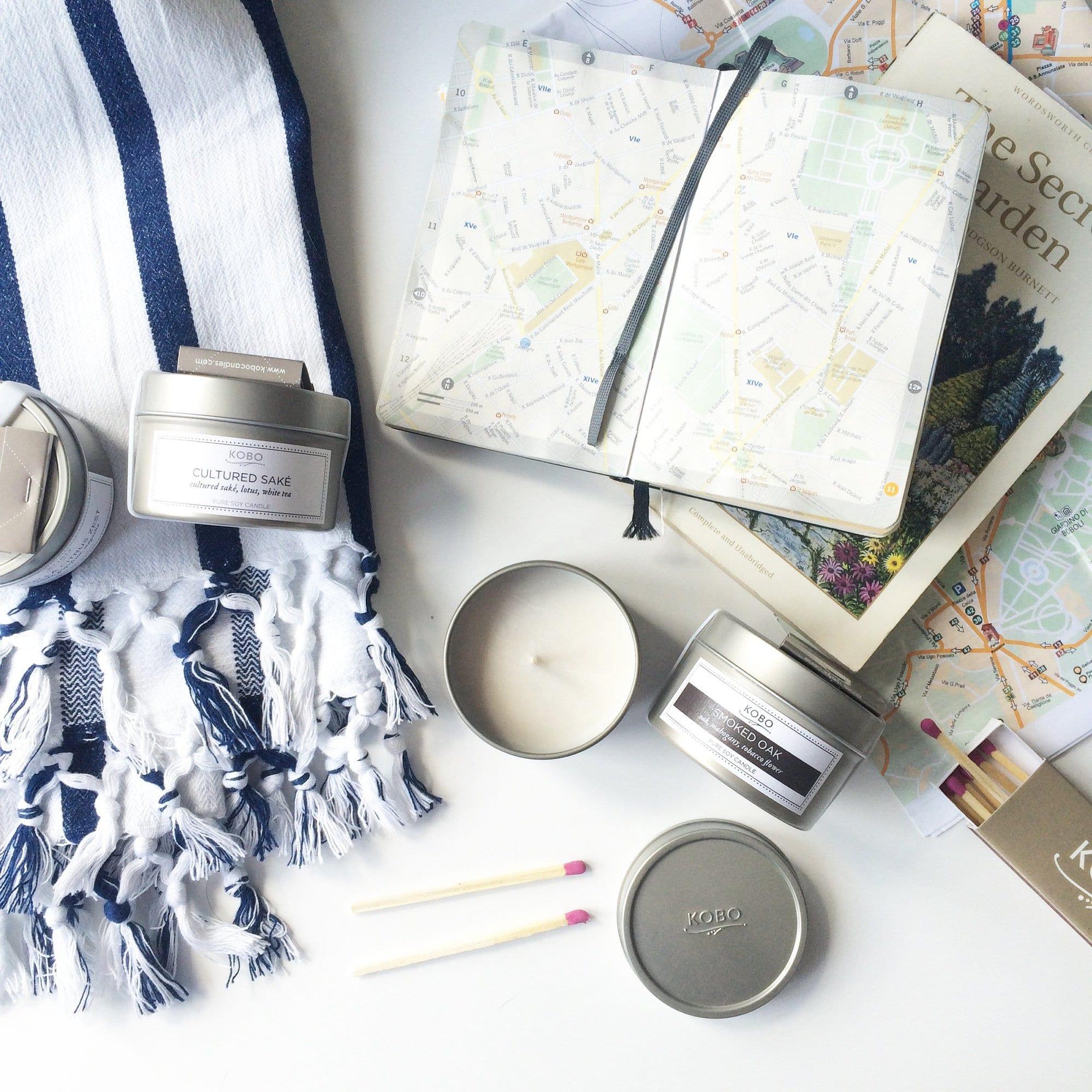 Новая коллекция travel-свечей от KOBO Candles в интернет-магазине Candlesbox