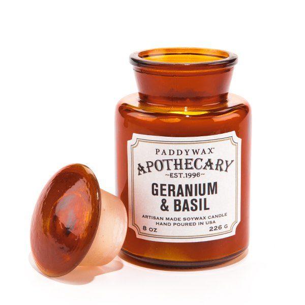 Ароматическая свеча GERANIUM & BASIL от PaddyWax в интернет-магазине Candlesbox