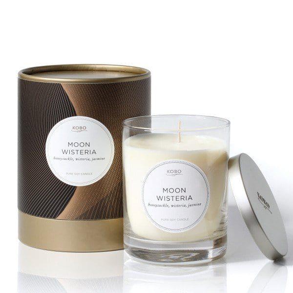 Ароматическая свеча MOON WISTERIA от KOBO Candles в интернет-магазине Candlesbox
