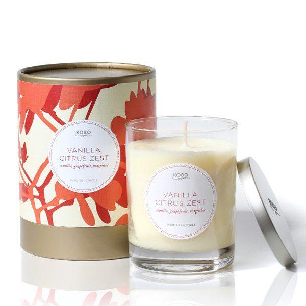 Ароматическая свеча VANILLA CITRUS ZEST от KOBO Candles в интернет магазине Candlesbox