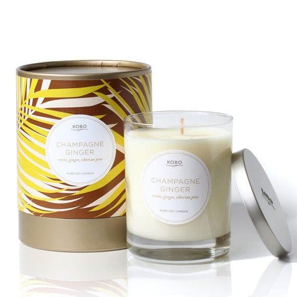 Ароматическая свеча CHAMPAGNE GINGER от KOBO Candles в интернет-магазине Candlesbox