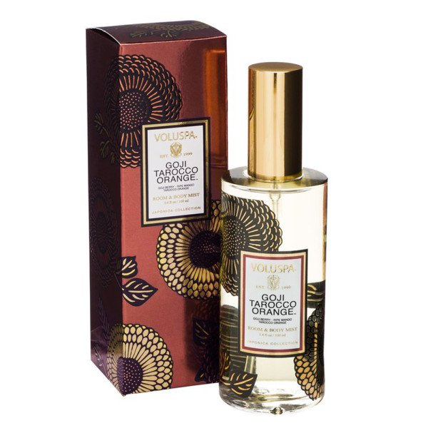 Спрей для дома GOJI TAROCCO ORANGE от VOLUSPA в интернет-магазине ароматов для дома Candlesbox