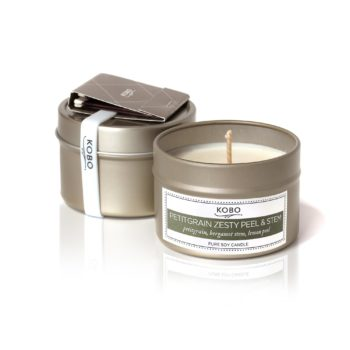 travel-свеча  PETITGRAIN ZESTY PEEL AND STEM от KOBO Candles
