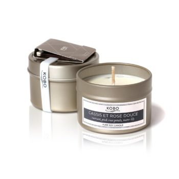 travel-свеча  CASSIS ET ROSE DOUCE от KOBO Candles