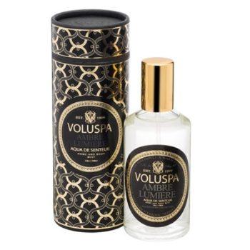 Спрей для дома AMBER LUMIERE от VOLUSPA в интернет-магазине ароматов для дома Candlesbox