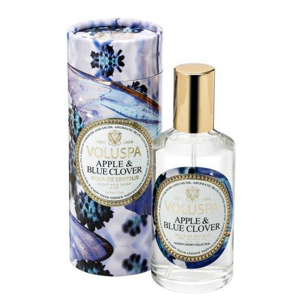 Спрей для дома APPLE & BLUE CLOVER от VOLUSPA в интернет-магазине ароматов для дома Candlesbox