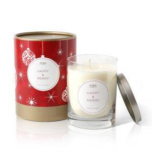 Cвеча Happy&Merry от KOBO Candles в интернет-магазине ароматов для дома Candlesbox