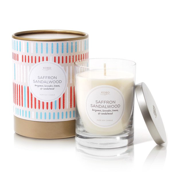 Ароматическая свеча SAFFRON SANDALWOOD от KOBO Candles в интернет-магазине Candlesbox