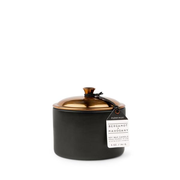Средняя свеча в керамике BERGAMOT + MAHOGANY бренда PaddyWax в интернет-магазине Candlesbox